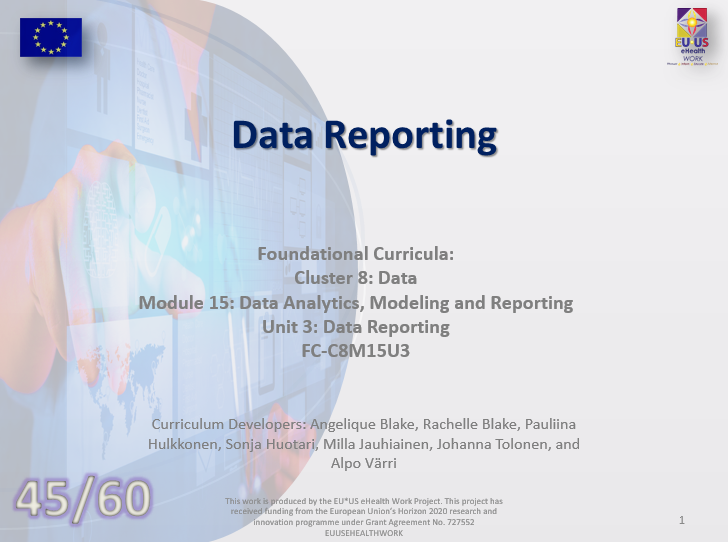 Lesson 45: Data Reporting